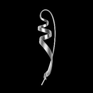 Ringlet earring, sterling silver