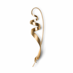 Ringlet earring, gold-plated sterling silver