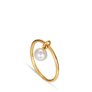 ROW | PEARL RING | GOLD PLATED