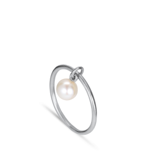 ROW | PEARL RING | SILVER