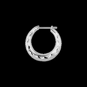Reflection Rhombus earring, sterling silver
