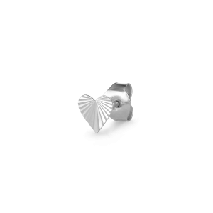 Reflection Heart Stud, Sterlingsilber