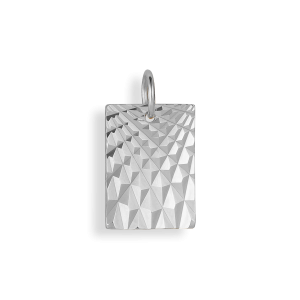 Reflection Square pendant, Sterlingsilber