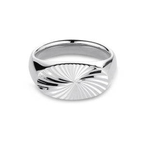 Reflection Signet ring, sterling silver