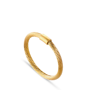 Small Salon Ring, gold-plated sterling silver