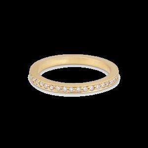 Alliance ring, 18-carat gold, 0,005 ct diamonds