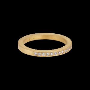 Big alliance ring, 18 karat gull, 0,01 ct diamanter
