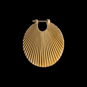 Shell Earring, forgylt sterlingsølv