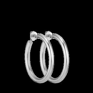 Slender Hoop | Blank sølv