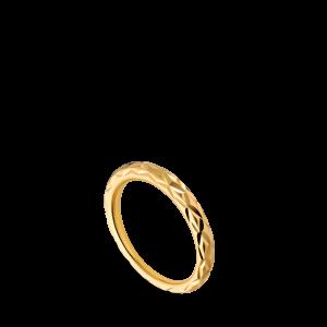 Small Impression Ring, forgylt sterlingsølv