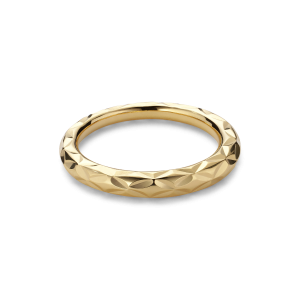 Small Impression Ring, forgylt sterlingsølv
