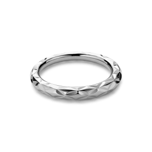 Small Impression Ring, sterling silver