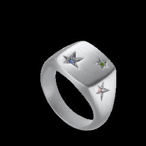 Star Signet Ring | Sølv
