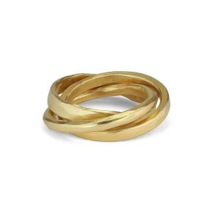 3-in-1 ring, 18 karat gull