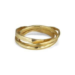 Slim-3-in-1 Ring, 18 karat guld