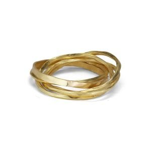 Twisted Ring 3-in-1, 18 karat gold