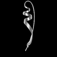Ringlet earring, sterlingsilver