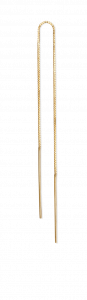 Simple Chain Earring, förgyllt sterling silver