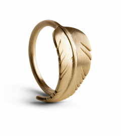 Leaf ring, vergoldetes Sterlingsilber