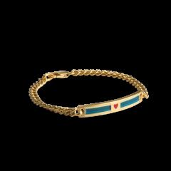 Love Link Bracelet, forgylt sølv