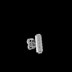 Razor Stud, rhodinated sterling silver