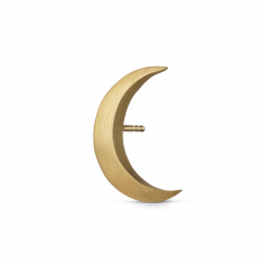 Big Half Moon Stud, gold plated sterling silver