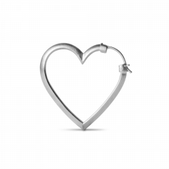 Heart of Love Earring, sterling silver