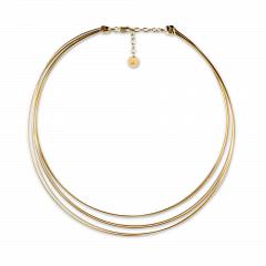 Wire Choker necklace, forgylt sterlingsølv