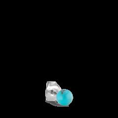 Splash Bead Stud Turquoise, Silber
