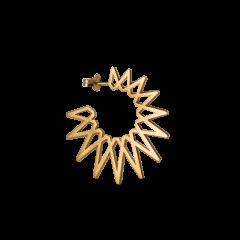 Sun Earring, förgyllt sterlingsilver