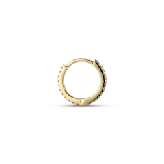 Tiny diamond hoops, 18 Karat Gold, 0,066 ct.