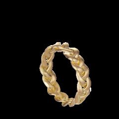 Großer geflochtener Ring | 18 Karat Gold