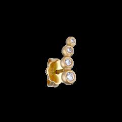 Ear stud,18 Karat Gold, weiß 4 weiß brill. 0,11 ct.