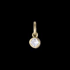Cushion shaped pendant, 18 karat guld, 0,12 karat diamant.