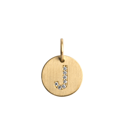 Lovetag Pendant with Diamonds, 18 karat gull