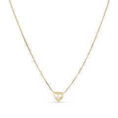 Panzer necklace chain with rose-cut diamond pendant, 18 karat guld