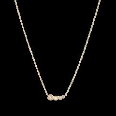Necklace, four diamonds, 0.32 ct. diamonds, 18-karat gold