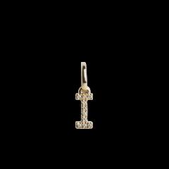 Letter Pendant with Diamonds, 18 karat guld