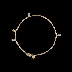 Bracelet with diamond pendants, 0,5 ct. diamant, 18 karat guld
