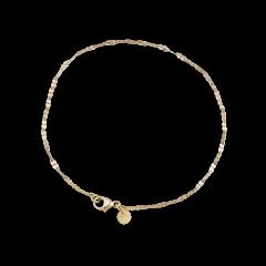 Navette bracelet Flowers, 1,6 mm, 18 Karat gold