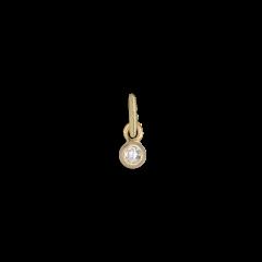 Brilliant pendant, 18 karat guld, 0.03 ct. diamant