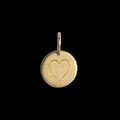 Kombination aus Saturn-Kette und mittelgroßem Lovetag-Anhänger, 18 Karat Gold