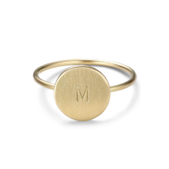 Medium Love Tag Ring, 18 karat guld