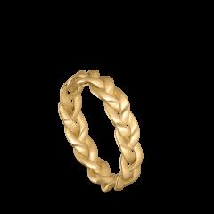Medium Braided Ring, 18 karat gull