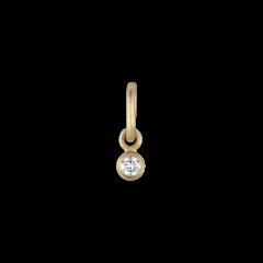 Hänge, 0,05 karat diamant, 18 karat guld