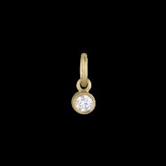 Vedhæng,  0.05 karat diamant, 18 karat guld