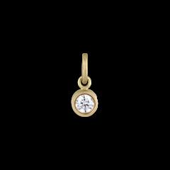 Vedhæng,  0.10 karat diamant, 18 karat guld