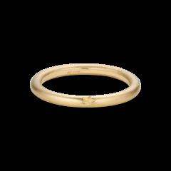 Stjernegravert ring, 18 karat gull