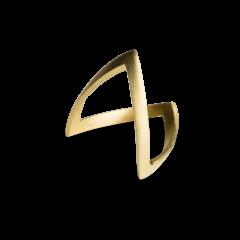 V Ring, 18 karat gull