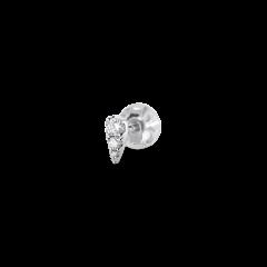 Drop ear stud, 18 karat hvid guld, 0.11 ct. diamant